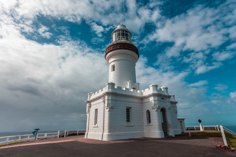 Cape Byron Light - most powerful lighthouse in Australia Australia Byron Bay Cloudscape Lighthouse New South Wales  Travel Landmark Landscape Travel Destinations