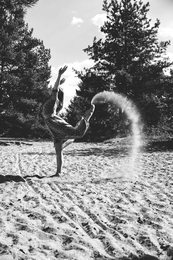 Real People Black And White Sonyalpha One Person Girl Rhythmic Gymnastics