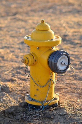Cool shot of fire hydrant HYDRANT PRIVATE SYSTEM Close-up Day Field Fire Hydrant No People Outdoors Public Water Yellow Minion Love