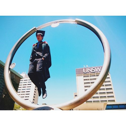 Congratulations to @myleskalus, graduating from UNSW with a Masters in Levitation! Unsw Graduation Vscocam