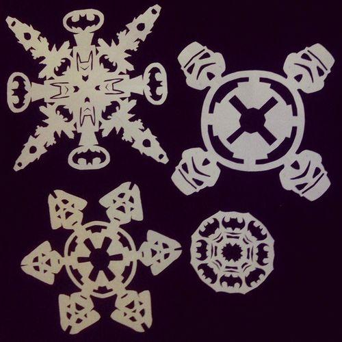 Batman Darthvader Stormtrooper Starwars Superhero Snowflakes Christmas новыйгод снежинки украшу радуюськакребенок несобираюсьвыростать душевности
