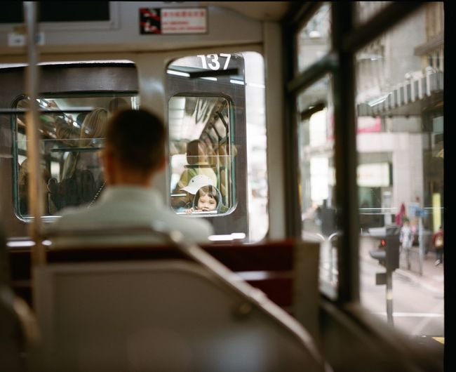 Men Transportation One Person Rear View Real People Mode Of Transport Lifestyles Public Transportation Train - Vehicle People Sitting