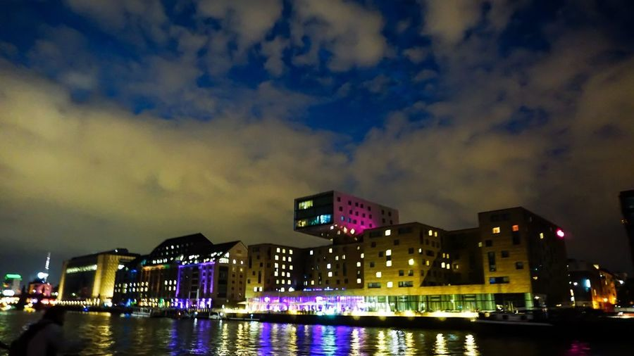 Berlin Photography Berliner Ansichten Berlin Illuminated Night Building Exterior Water Built Structure Architecture Sky City Nature Cloud - Sky Reflection Building No People Waterfront River Outdoors Lighting Equipment City Life Light Cityscape