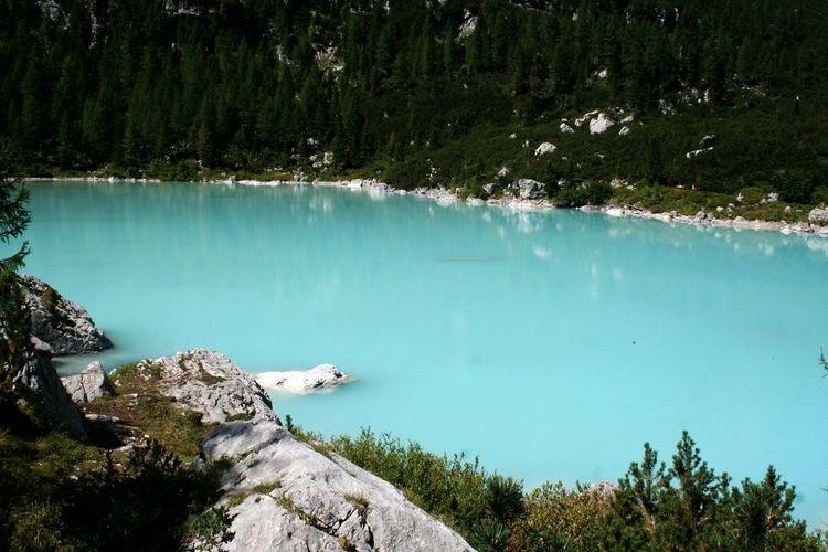 High angle view of lake at mt sorapis