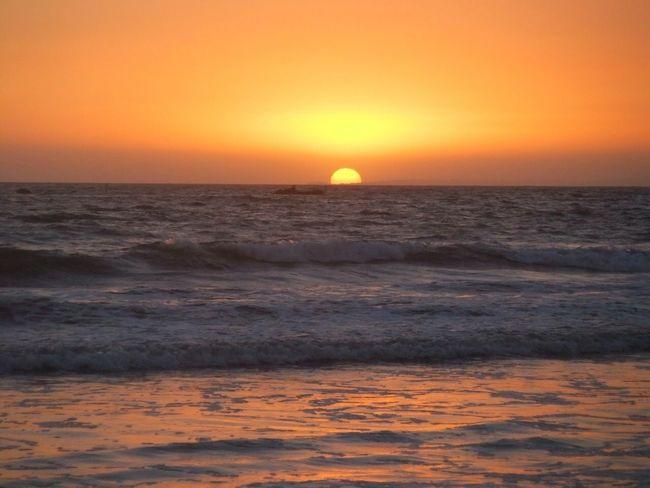 Losangeles Santa Monica Sunset Beautiful Beach Unforgettable Moment