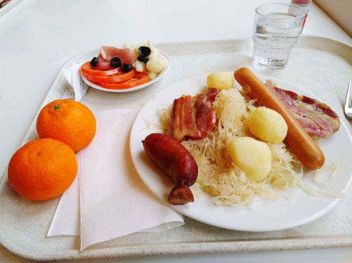 Self service choucroute Self Service Choucroute Fruit Plate Breakfast High Angle View Sweet Food Food And Drink