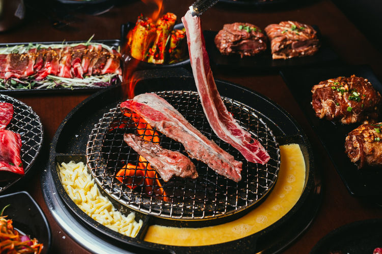 Roasting meat