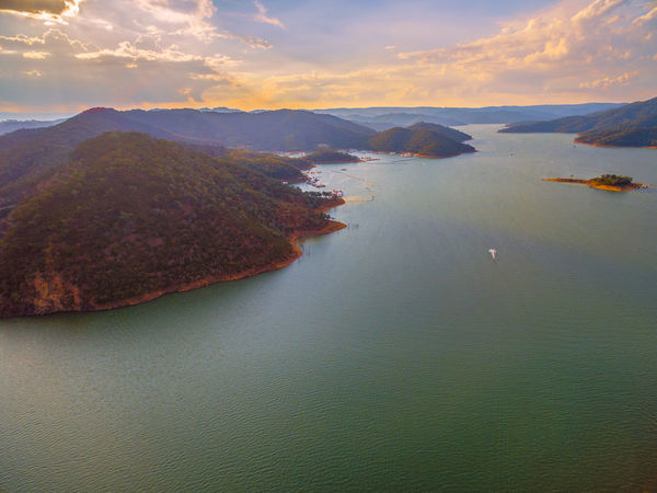 Lake Eildon aerial view at sunset. Melbourne, Australia. Australia Australian Landscape Beautiful Drone  Goulburn River Panorama Panoramic Scenic Aerial Aerial Landscape Aerial View Beauty In Nature Countryside Dam Day Drone Photography Eildon Idyllic Lake Lake Eildon Landscape Melbourne Mountain Mountains Nature No People Outdoors River Scenics Sea Sky Sunset Tranquil Scene Tranquility Water Waterfront