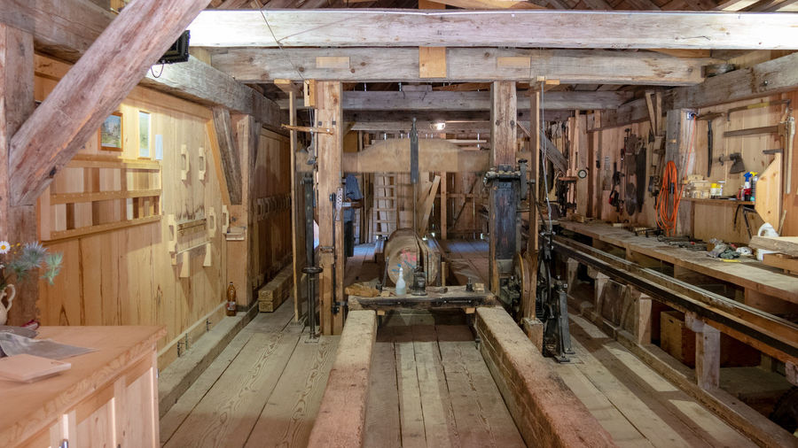 Old sawmill in the swiss alps
