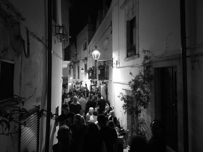 Puglia No Filter, No Edit, Just Photography No Filter South Italy Puglia South Italy Nofilter#noedit Blackandwhite Black And White Crowd Illuminated Celebration Party - Social Event Nightclub Popular Music Concert Architecture Built Structure