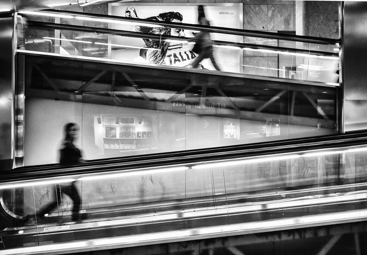 Going Up Blackandwhite Black And White Streetphotography Street Photography Streetphoto_bw Street Transportation Railroad Station Urban EyeEm Best Shots Travel Urbanphotography City Life Blurred Motion Motion Monochrome Photography