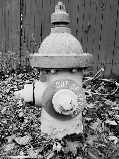 Black And White Fire Fire Department Fire Plug Fire Hydrant Hydrant Out Of Service Day No People Outdoors Architecture Close-up Communication