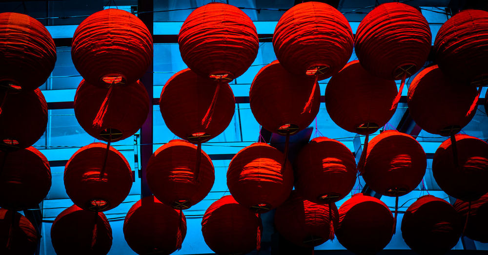 Chinese lantern Chinese Lantern Red Wall Celebration Chinese New Year Day In A Row Lantern Large Group Of Objects Outdoors Red