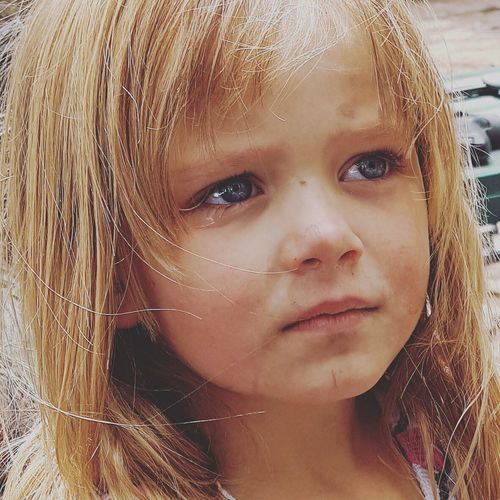 Childhood Portrait One Person Close-up Blond Hair Human Face Real People Headshot Child Crying EyeEmNewHerе