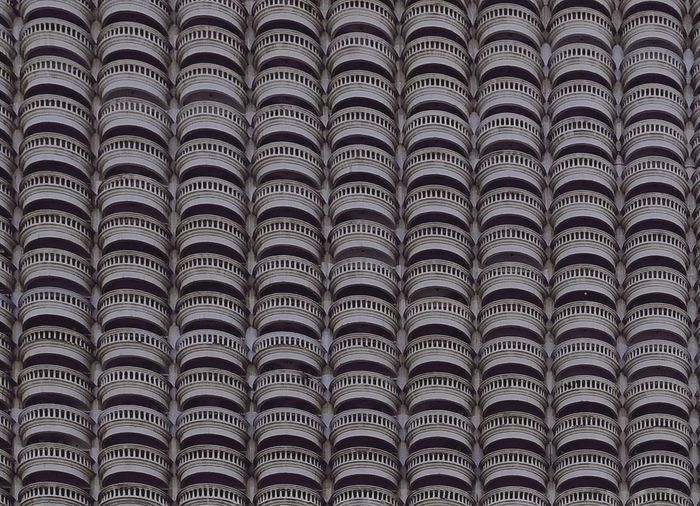 Condominium. Building Exterior Backgrounds Full Frame Repetition Pattern In A Row No People Large Group Of Objects Design Architecture Order Abundance Arrangement Textured  Roof Tile Close-up Day Indoors  Modern Side By Side