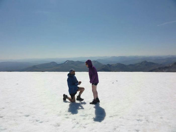 Engagement Down On One Knee Check This Out Hello World Ben Nevis