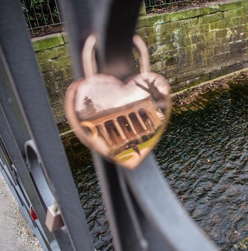 Heart, Herz, Spiegelung, Trinkhalle Baden-Baden, Brücke Love Lock, Liebesschloss Rememeber, Erinnerung Close-up Focus On Background Outdoors Selective Focus