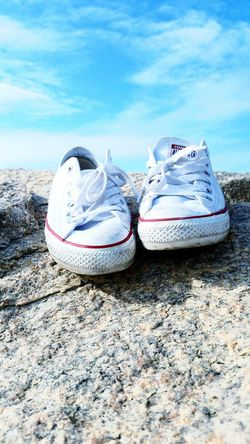 My Converse Travel the world with me Summer Time  Whiteconverse Shoes Mylife ♡ Blue Sky Rock Harbor