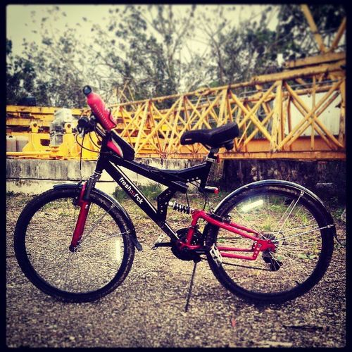 Freshasf *ck Bike Mountainbike Bicycle bicicleta PR PuertoRico Dhom dhomgonzalez.tumblr followcarlitosgonzalez.tumblr black red mongoose bmx fresh as fuck fck mudguards TrujilloAlto Cupey stance flush illest swag