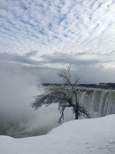 NIAGARA FALLS Cold Temperature Nature Snow Beauty In Nature Scenics Niagara Falls Calgaryphotographer Water YYCphotographer Tourism Tourist Attraction  Tourist Destination Thankyoucanada Ontario Ontario, Canada Canada Coast To Coast Canadian Winter Canadiannature