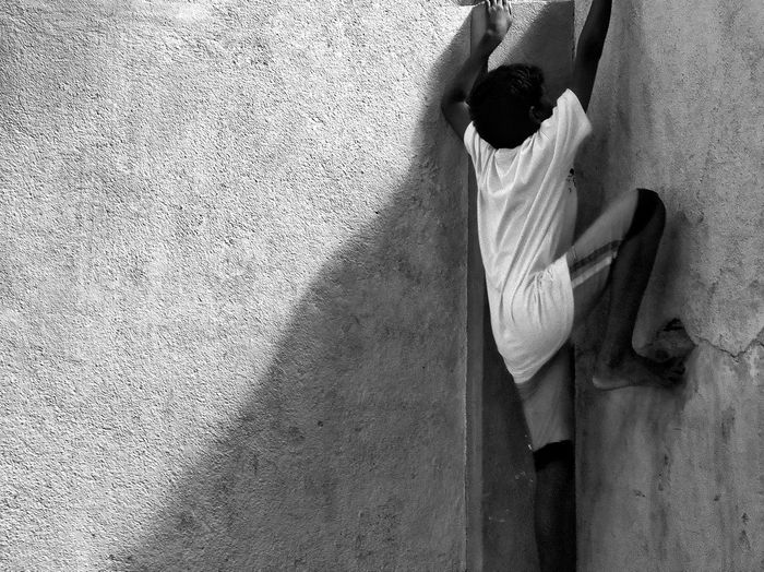 EyeEm Selects Day Low Section One Person Indoors  Close-up Real People People Black And White Friday Evening Light EyeEmNewHere The Week On EyeEm EyeEm Best Shots Bestsellers 2017 Bnw_collection Lifestyles Best EyeEm Shot People Of EyeEm Kids Sport Climb Reflex Fit Human Body Part EyeEm Masterclass