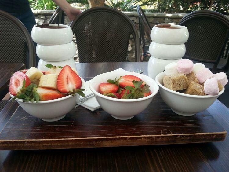 Breakfast Foodporn Enjoying Life Nofilter With extra strawberries @ MAX BRENNER Chocolate Restaurant