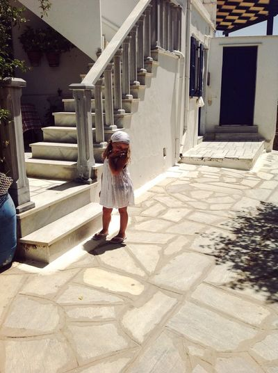 Real People One Person Architecture Full Length Built Structure Sunlight Shadow Nature Girls Staircase Childhood Outdoors