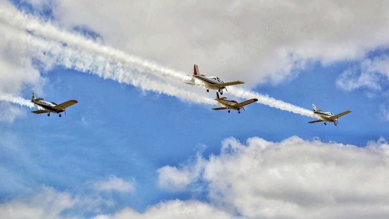 Airshow Planes In The Sky Sky And Clouds Airfield LaJuliana Bollullos De La Mitación