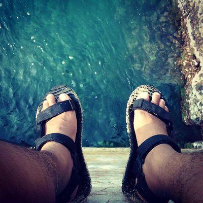 Maunya sih loncat haha Latepost Holiday at Santolo Beach IndonesiaBagus
