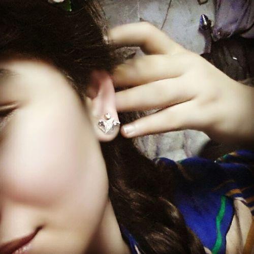 Hello World Ear Piercing Asian  Enjoying Life