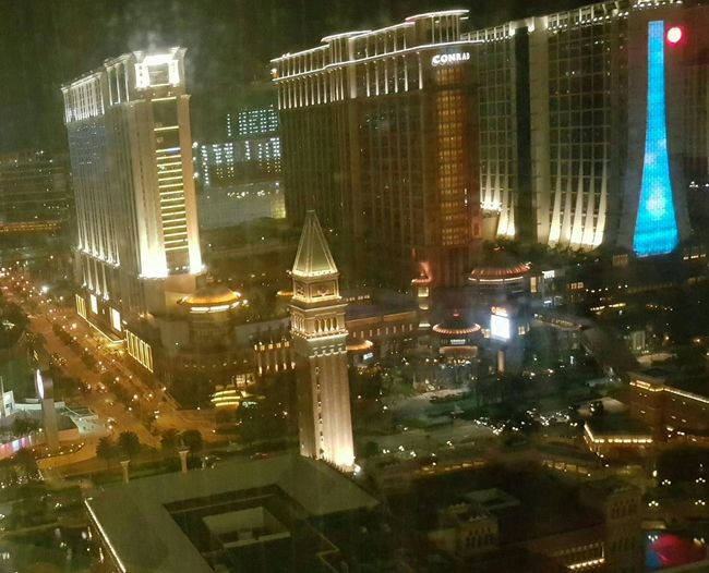 Light And Shadow Macao View City Lights take photo from my hotels window Night Photography Enjoying Holiday
