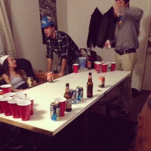 Part 1: beer pong on doors?? Morgantown Halloweennight Apartments