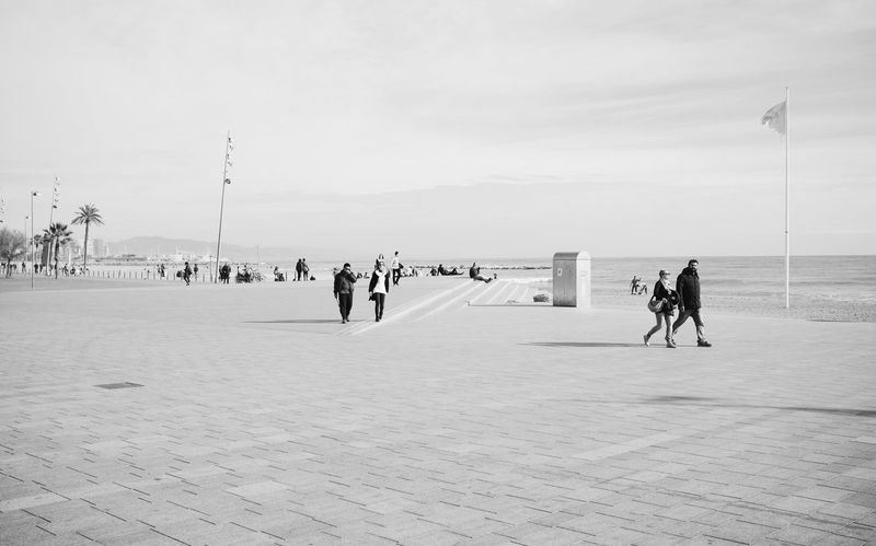 Barceloneta // VSCO Vscocam Blackandwhite Black & White Monochrome X100S FUJIFILM X100S Fuji X100s Streetphoto_bw Streetphotography