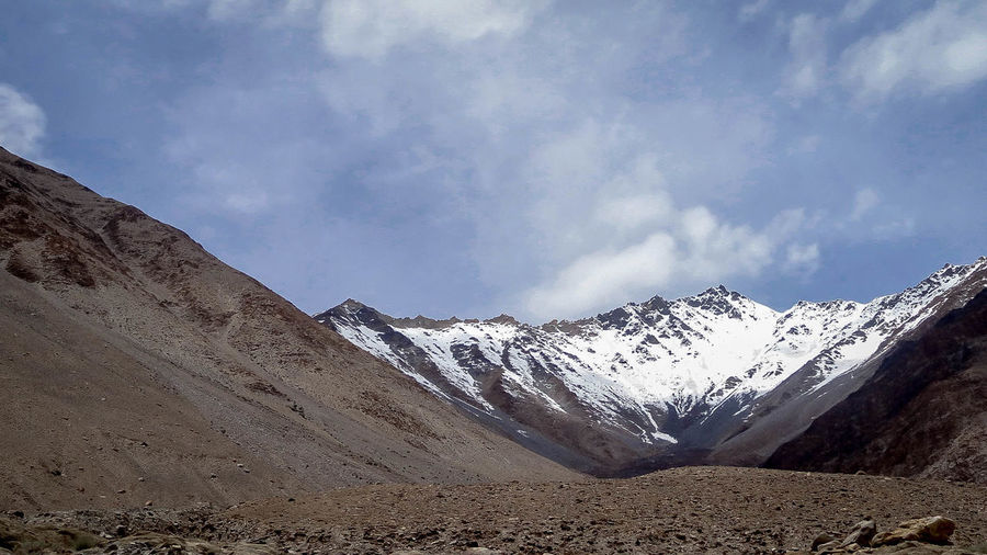Mountain Snow Snowcapped Mountain Cold Temperature Sky Mountain Range Landscape Cloud - Sky Rocky Mountains Natural Landmark Rugged Dramatic Landscape Physical Geography Extreme Terrain