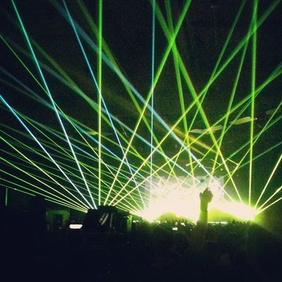 Laser show at Shrillex Sonar20years