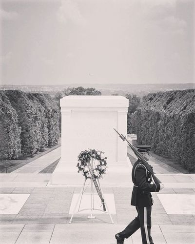 Tomb of the Unknown Soldier Arlington  Virginia Blackandwhite Travelphotography Remember NeverForget Heroes Calgaryphotographer