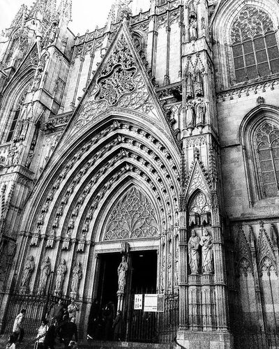 Cathedral Barcelona Bcn Blackandwhitephotography Streetphotography