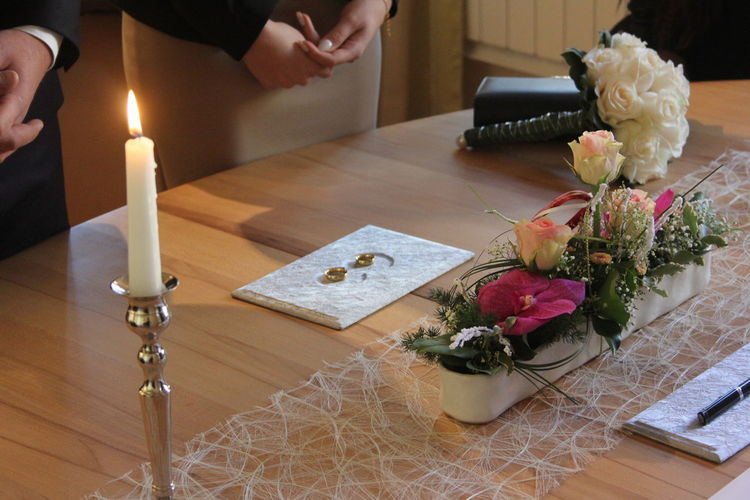Wedding from my sister in december 2016. Burning Candle Close-up Couple Dream Dreams Flame Flower Forever Indoors  Ring Rings Rose - Flower Table Vase Wedding
