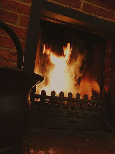 Christmas time 🎅🏻🍷🔥 Fireplace Firewood Home Fire Warmth Christmas Burning No People Indoors  Food Architecture Close-up