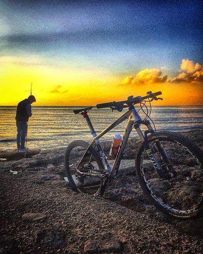 Con te arrivo ovunque..... MTB Salento Sunset