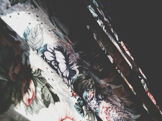 Curtain Random Flowery Old