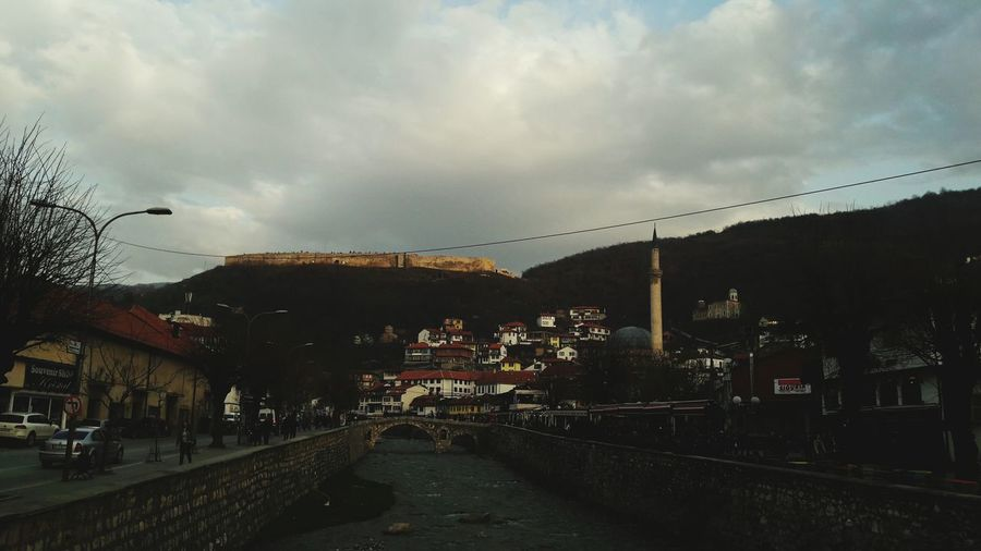 Cloud - Sky City Outdoors Sky Dramatic Sky Bridge - Man Made Structure No People Cityscape Storm Day Kosovo Prizren, Kosova Old Bridge City Light River Side EyeEm EyeEm Best Shots Sundown Sun