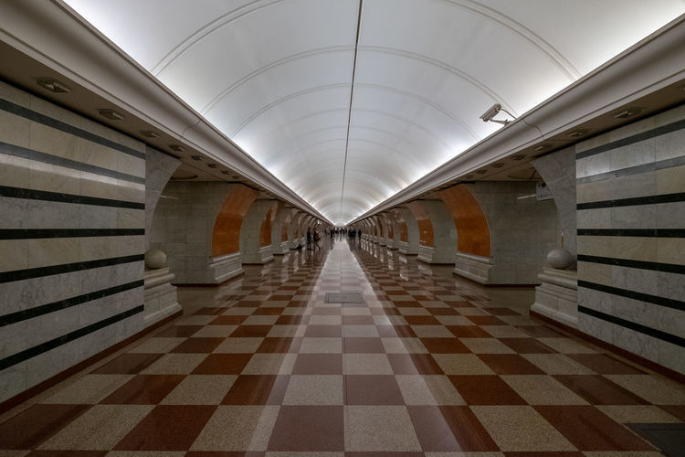 Moscow Underground Histirywalks Moscow Reflection Russia Travel Underground Arcade Architecture Building Built Structure Checked Pattern Corridor History Indoors  Pattern Walking EyeEmNewHere