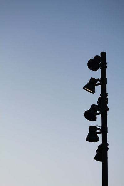 Clear Sky Day Full Length Guidance Lampost Lamps Low Angle View No People Outdoors Silhouette Sky Technology
