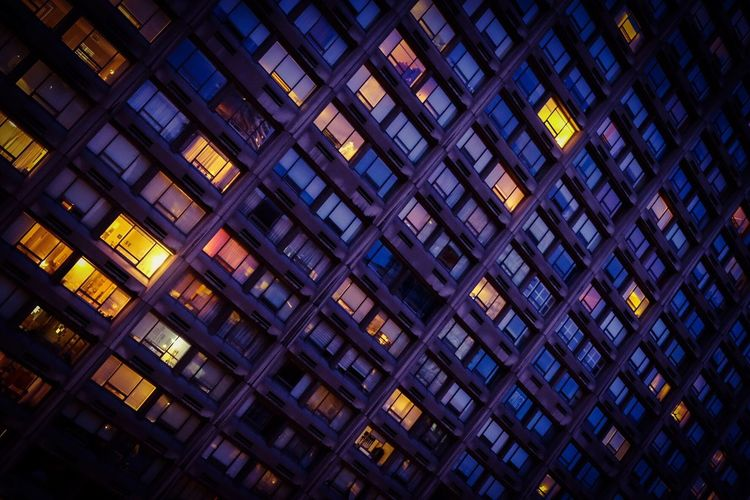 Citylight Urban Landscape Urban Geometry Apartment Buildings Apartment Condo Condominium Cityscape City Life Architecture Pattern Built Structure Full Frame Backgrounds Building Exterior Night Illuminated Window City Building Office Building Exterior Glass - Material The Architect - 2018 EyeEm Awards HUAWEI Photo Award: After Dark