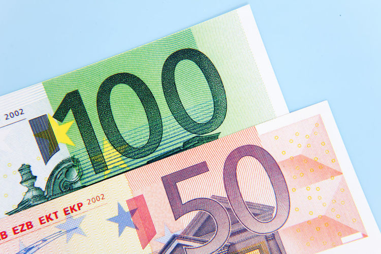 Hundred and fifty euro on light blue background Banking Bonus Credit Currency Debit Euro Notes Euro Zone Financial Financial Planning Financial Service Make Money Money Money Money Money Premium Save Money Savings