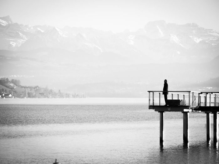 My Winter Favorites Zurich, Switzerland Zürich Switzerland Schweiz Zürichsee Alps Lake Blackandwhite Black And White Black & White Bnw Monochrome Monoart Bnw_life