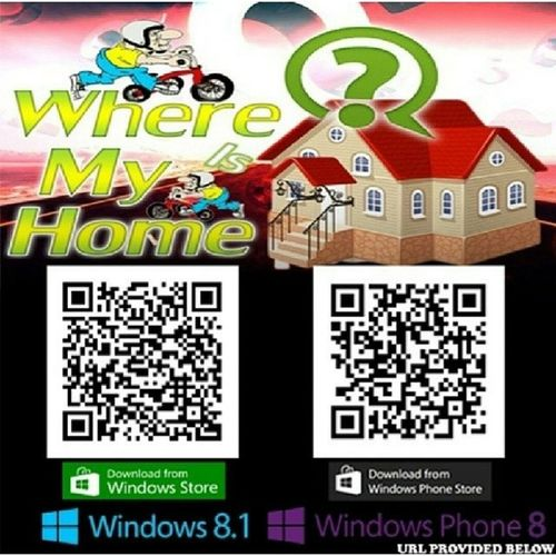 "Hello everyone! Read the caption please and download this cool game by @muhib_:) ""Hi, everyone, my GAME ""Where is my Home"" is now available for Windows 8.1 and Windows Phone 8 and 8.1. You can download it from the Store, links attached in QR code and also provided below so Download it, Rate it, Give reviews and Don't forget to share with your friends HAVE FUN!! For Windows 8.1 http://apps.microsoft.com/windows/app/where-is-my-home/b58a32ab-1e1b-42b3-a8ab-101a363a60da For Windows Phone 8 and Windows phone 8.1 http://www.windowsphone.com/s?appid=ee4ba3c1-85d7-4d92-a659-8c034fd86932 Read more at http://web.stagram.com/p/698359374049094811_279189266ClZca4uZKyCZJdgF .99"""