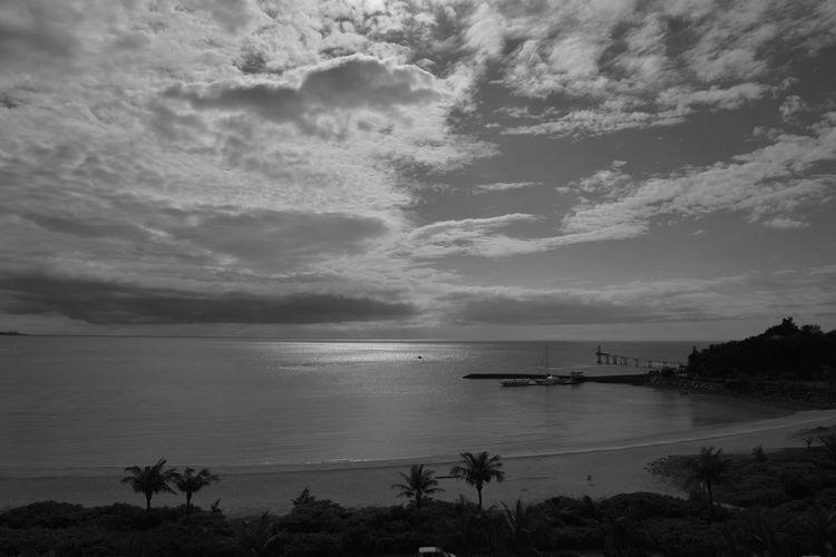 Nikon D610 Original EyeEm Best Shots Bw_collection Blackandwhite Monochrome Light And Shadow Sky Sea Cloud Okinawa Busena Terrace
