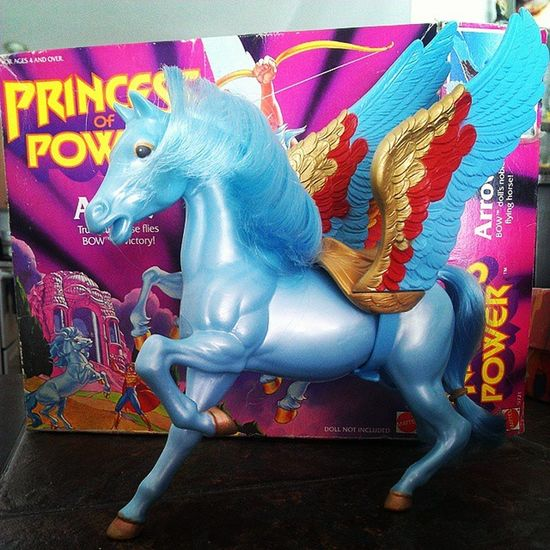 The newest addition to my Toycollection : Arrow from Motu Shera Princessofpower . Toycrewbuddies Toysforlife Toycollector Toycommunity 80scartoons 80schild Ilovethe80s 80sKid 80stoys Vintagetoys Collectibles Etheria Pegasus